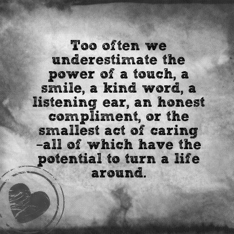 Underestimating the power of kindness