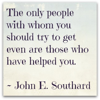 get even with those who help