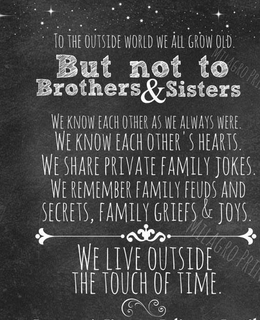 Big Sister To Brother Quotes: A Project For Kindness