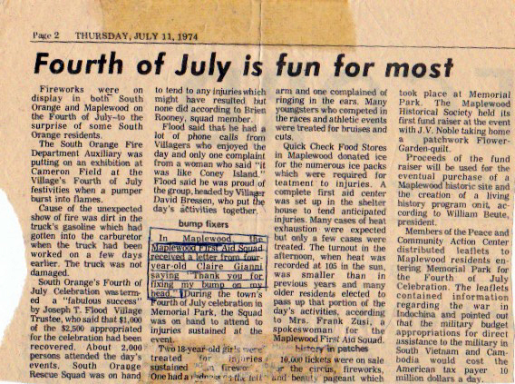 4th of july news record 1974