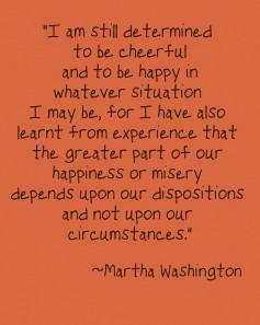 martha washington circumstances