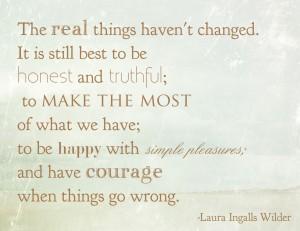 Laura Ingalls Wilder Quote Simple Pleasures