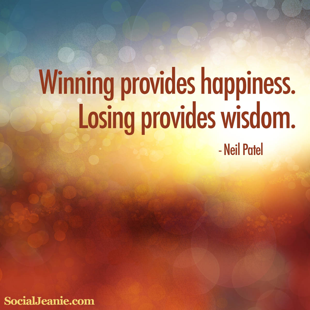 Inspirational Quotes About Happiness: Winning Provides Happiness