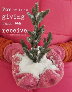 giving rather than getting