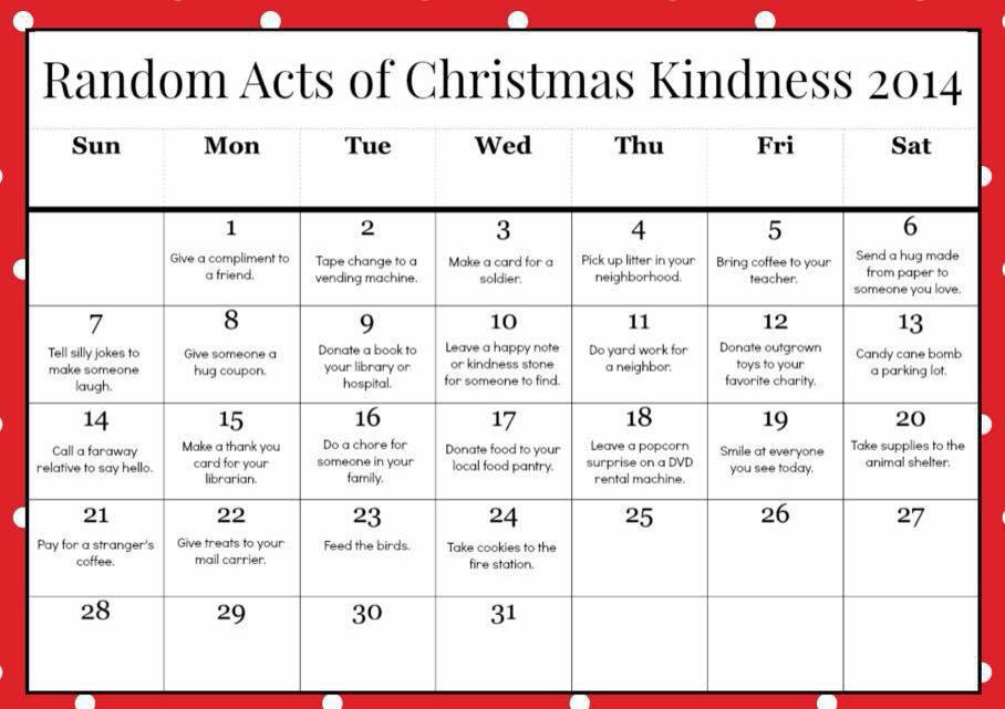 Random Acts of Kindness | A Project for Kindness