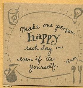 make one person happy