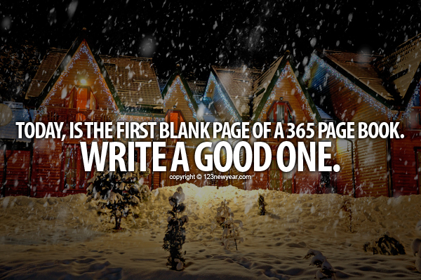 new year blank book