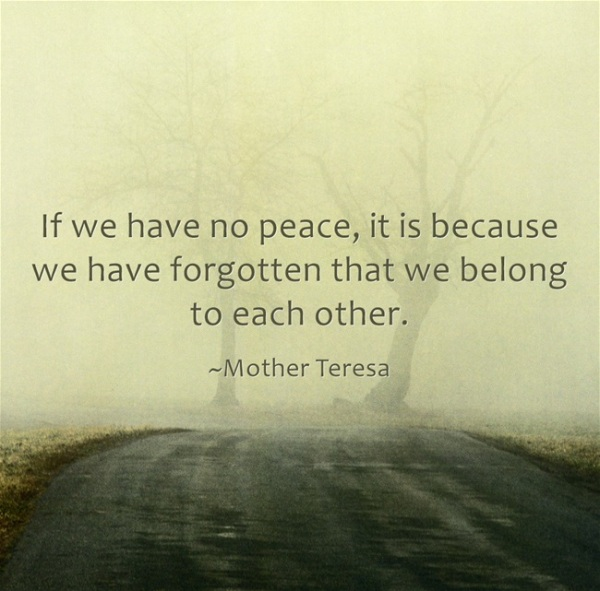 peace mother theresa